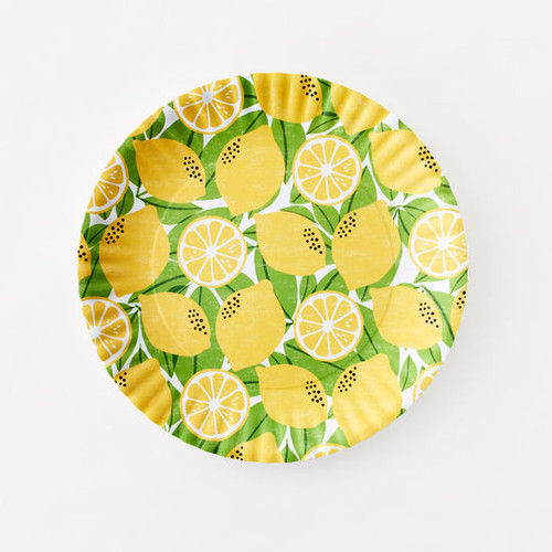 180 Degrees Melamine Platter, Lemon