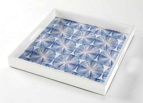 Tableau Square Serving Tray, Sea Stars