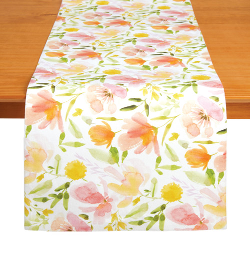 "Tableau 72"" Table Runner, Floral Delight"