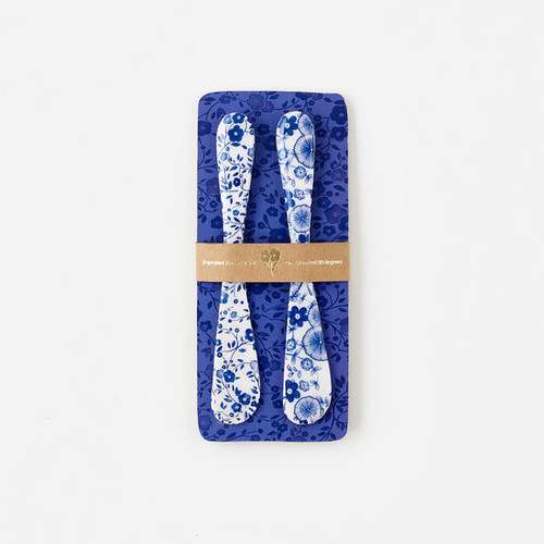 180 Degrees Spreader Set, Blue & White Floral