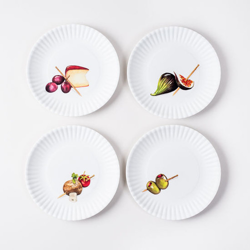 180 Degrees Melamine Plate Set, Hors D 'Oeuvre