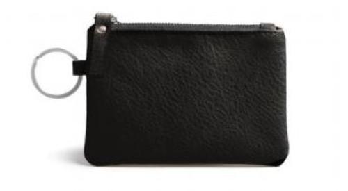 Burano Coin Bag/Keyring, Black