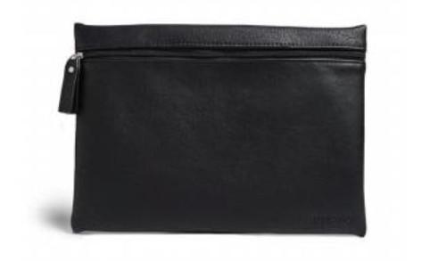 Burano Flat Cosmetic Bag, Black