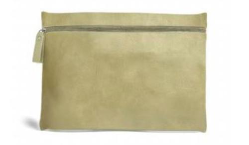 Burano Flat Cosmetic Bag, Dill