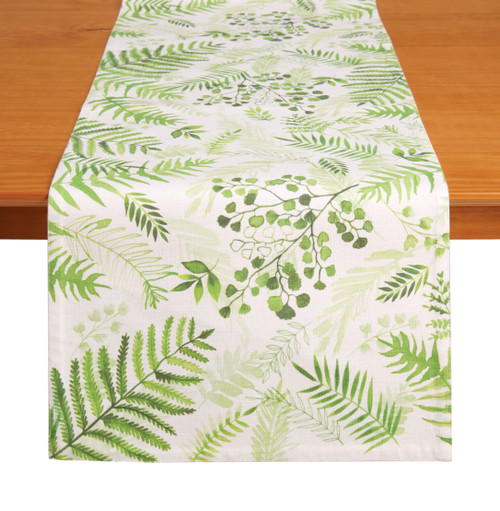 "Tableau 72"" Table Runner, Foliage"