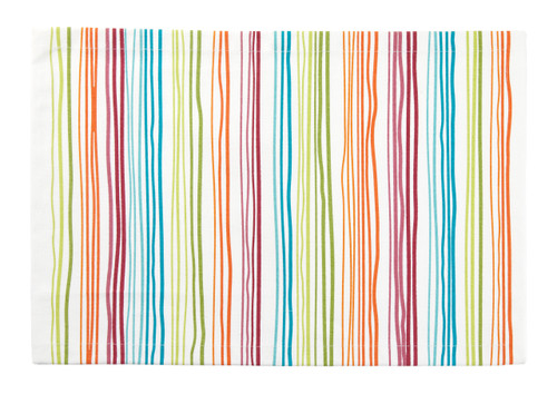 Tableau Rectangular Placemats, Rainbow Stripe, Set of 4