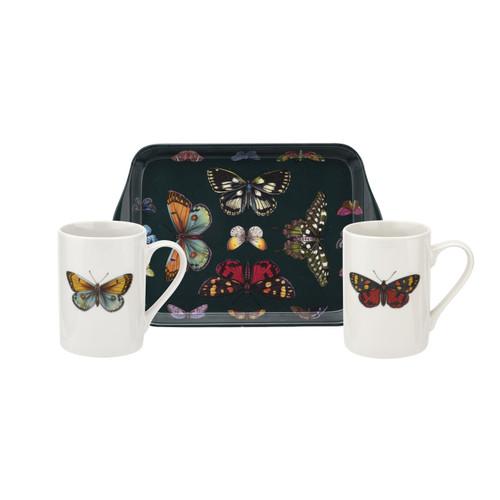Pimpernel 3pc Mugs & Tray Set, Botanic Garden Harmony