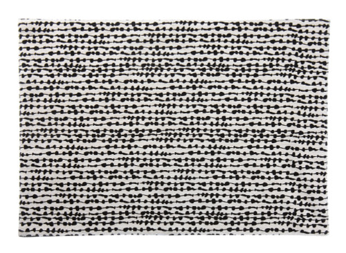 Tableau Rectangular Placemats, String of Beads Black, Set of 4