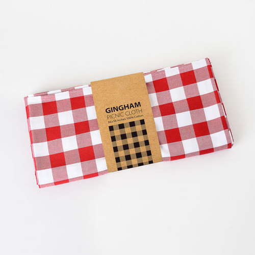 180 Degrees Picnic Cloth, Gingham Red