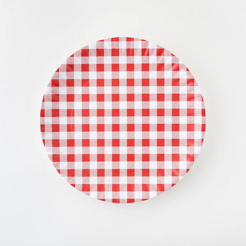 180 Degrees Melamine Platter, Gingham Red