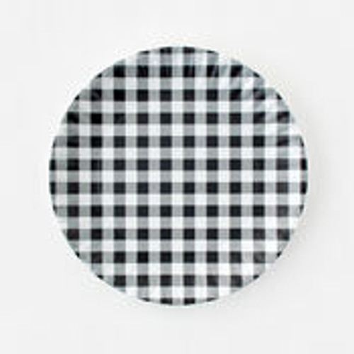 180 Degrees Melamine Platter, Gingham Black