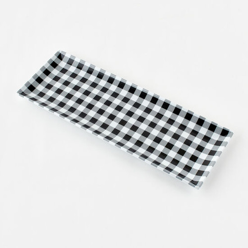 180 Degrees Sandwich Platter, Gingham Black