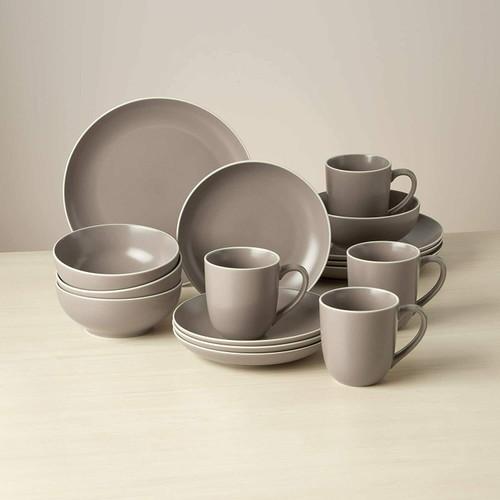 Dansk Kisco Taupe 16pc Dinnerware Set
