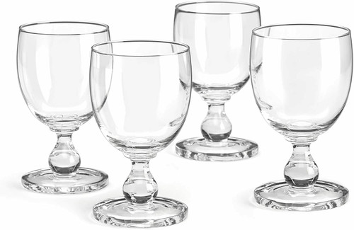 Dansk Hannah Clear Goblet, Set of 4