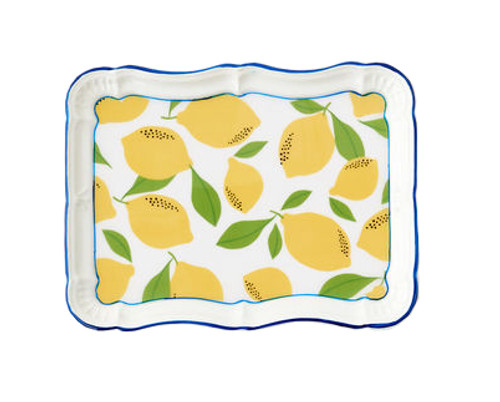 "180 Degrees Metal 10 x 14"" Tray, Lemons"