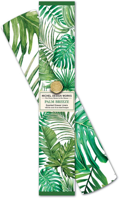 Michel Design Works Scented Drawer Liners, Palm Breeze