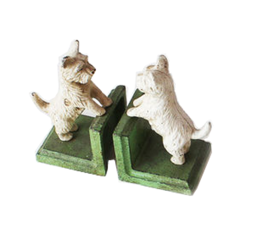 180 Degrees Dog Bookend, Green