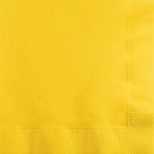 CEG Paper Luncheon Napkins, School Bus Yellow (581021B)