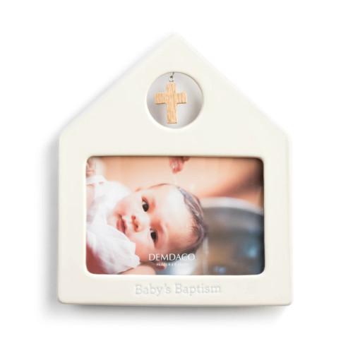 Demdaco Baby's Baptism Frame, Blue