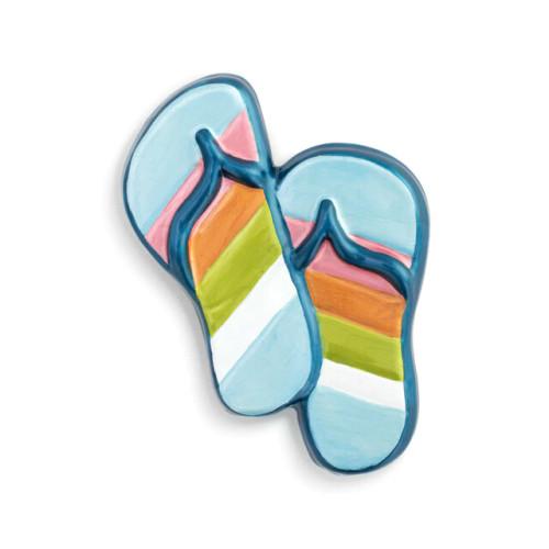 Demdaco Pop In Striped Flip Flop