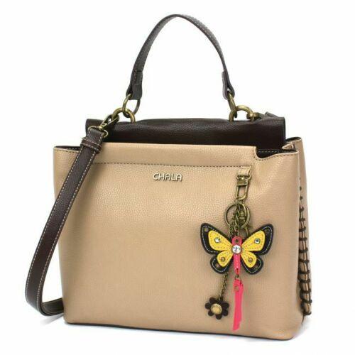 Chala Charming Satchel, Butterfly, Tan