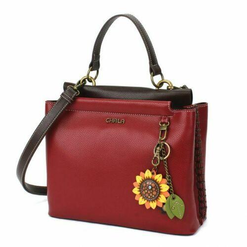 Chala Charming Satchel, Sunflower, Red