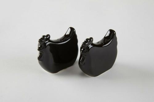 Tableau Black Rooster Salt & Pepper Set