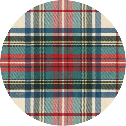 Caspari Die-Cut Coasters, Dress Stewart Tartan, Pack of 4 (3054CC)
