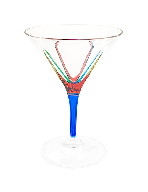 Gage Fusion Martini Glass, Cobalt Stem