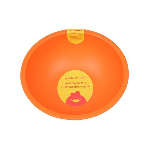 Lollaland Mealtime Bowl, Happy Orange