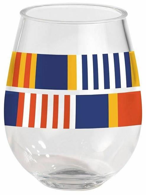 Merritt Oars Stemless Wine Glass