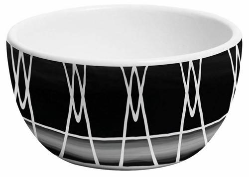 Merritt Black & White Dipping Bowl