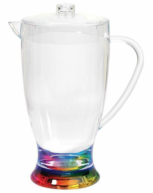 Merritt Rainbow Teardrop Acrylic Pitcher, 2.5qt