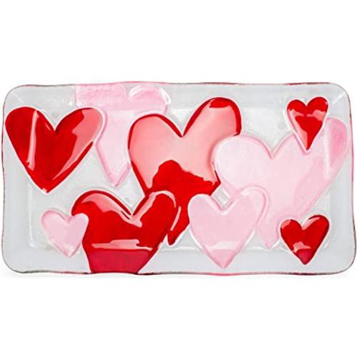 Demdaco Rectangular Platter, Hearts
