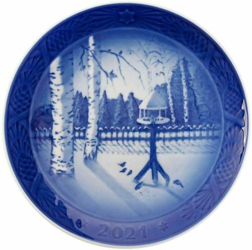Royal Copenhagen 2021 Christmas Plate, Winter in the Garden
