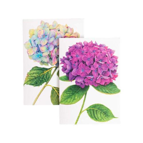 Caspari Boxed Note Cards, Hydrangeas, Box of 8 (86609.46)