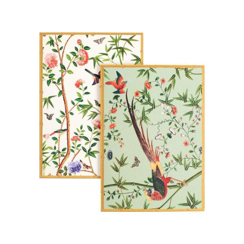 Caspari Boxed Note Cards, Chinese Wallpaper, Box of 8 (86614.46)