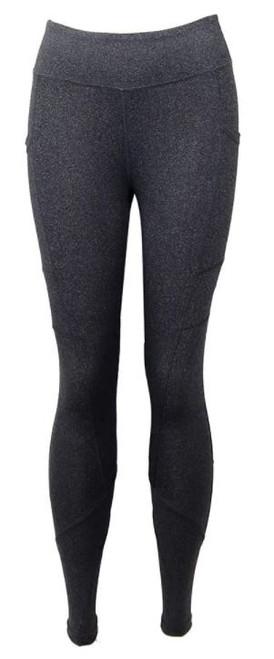 DM Merchandising Gray Crossover Leggings, Extra Large