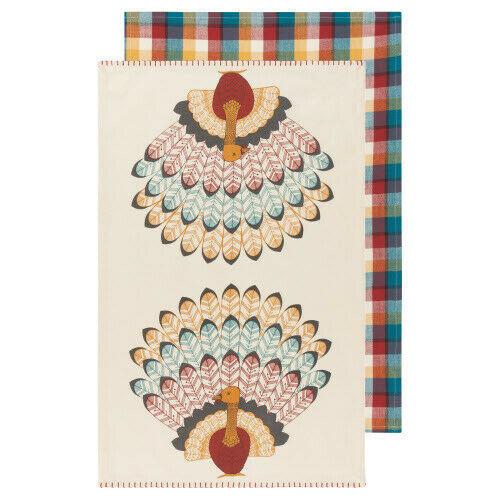 Now Designs Tommy Turkey Tea Towel, Set of 2