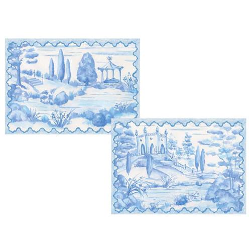 Caspari Boxed Note Cards, Tuscan Toile, Box of 8 (90607.46)