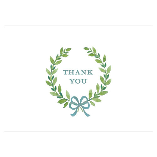Caspari Thank You Notes, Thank You Wreath, Pack of 8 (90614.44)