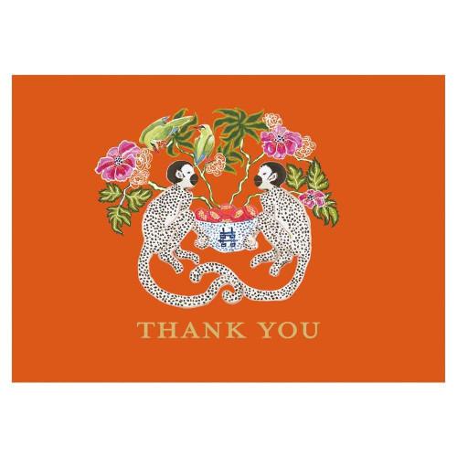 Caspari Thank You Notes, Monkeys, Pack of 8 (90615.44)