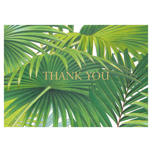 Caspari Thank You Notes, Palm Fronds, Pack of 8 (90619.44)