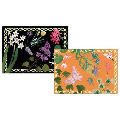 Caspari Boxed Note Cards, Mary Delany Flower Mosaics, Box of 8 (91601.46)