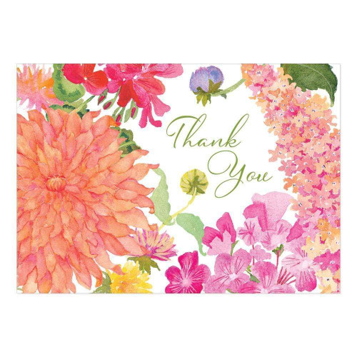 Caspari Thank You Notes, Summer Blooms, Pack of 6 (91609.48)