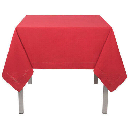 """Now Designs Hemstitch Tablecloth, 60""""x 120"""", Red Chili"""