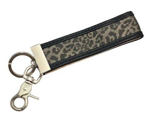 Ganz Luxe Leopard Key Clip, Black