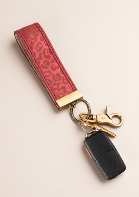Ganz Luxe Leopard Key Clip, Red