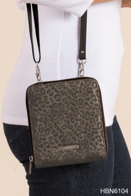 Ganz Crossbody Luxe Leopard Crossbody Bag, Black