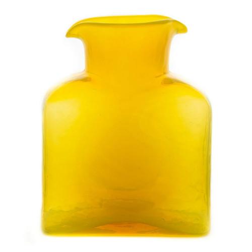 Blenko Glass Water Bottle, Citrine